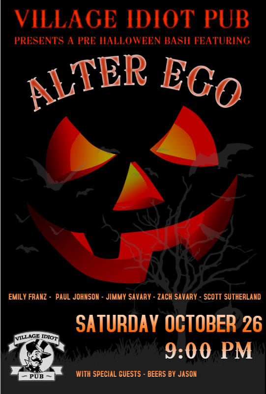 Halloween 2019 at Village Idiot Pub with Alter Ego