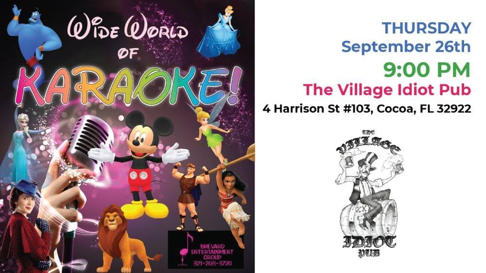 Wide World of Karaoke at Village Idiot Pub Hosted by Brevard Entertainment