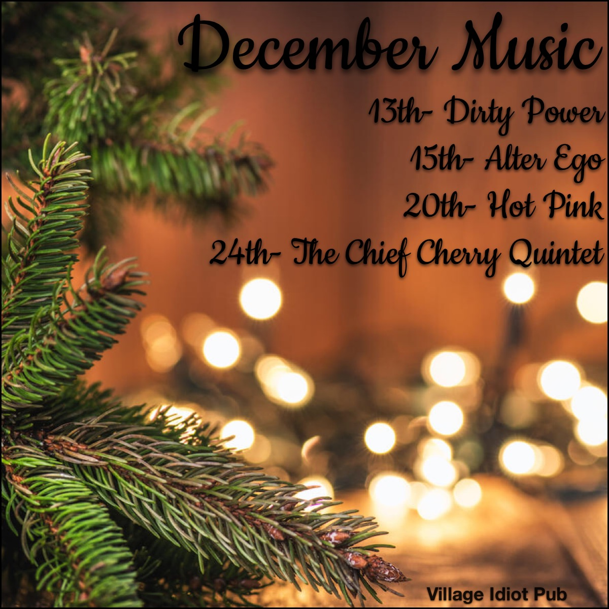 December Music at the Village Idiot Pub Cocoa Florida